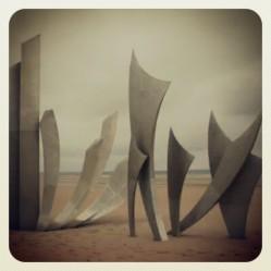 Monument on Normandy Beach, France