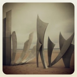 Monument on Normandy Beach, France