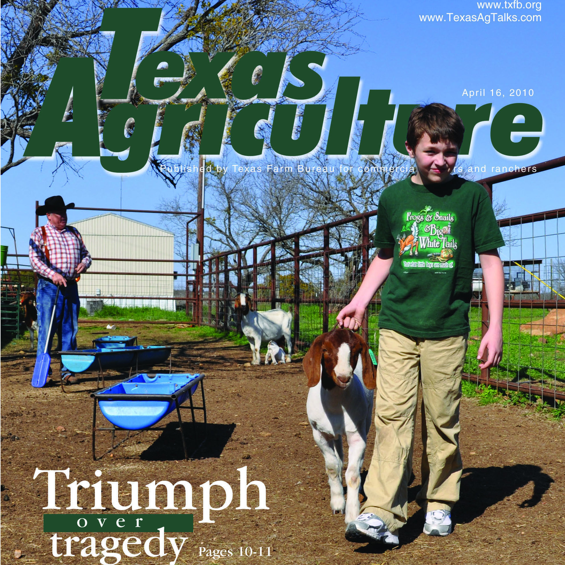Texas Agriculture April 16, 2010 cover